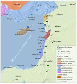 From Wikipedia. The Eastern Mediterranean after the Third Crusade (c. 1200)